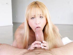 Cute Teenage Slut Sucks The Fat Cock That Fucks Her