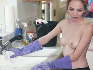 House Cleaning Maid Takes A Break To Get Fucked