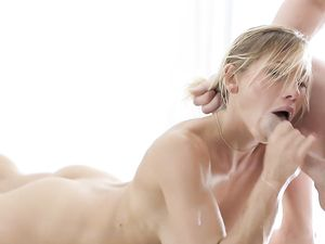 Perfect Doggystyle Sex For The Blonde Massage Babe