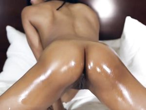 Tight Black Teen Booty Looks Great In An Interracial Fuck