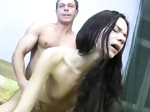 Grab Her Hips And Fuck The Skinny Slut From Behind