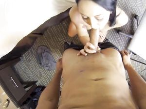 Fucking Shaved Twat In POV And Cumming On Her