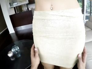 Leggy Hooker In A Miniskirt Strips And Fucks