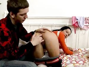 Ass And Pierced Pussy Fingering Of A Teen Cutie