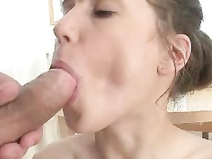 Nubile Beauty Sits Her Slick Cunt On His Big Dick