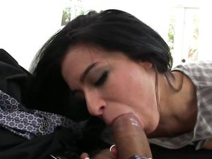 Fat Dong Getting Sucked And Rode On By A Brunette