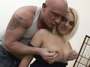 Two Throbbing Cocks For A Lovely Blonde Chick