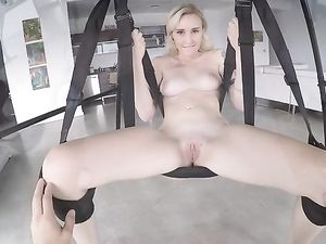 Swing Fucking With Pale Blonde Princess In POV