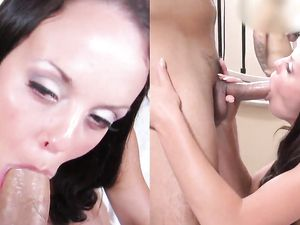 Cum In Mouth After Blowjob And Fucking With Hot Angel